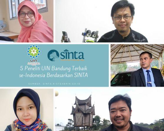 5 Dosen UIN Sunan Gunung Djati Bandung Masuk 500 Peneliti Terbaik se-Indonesia versi SINTA