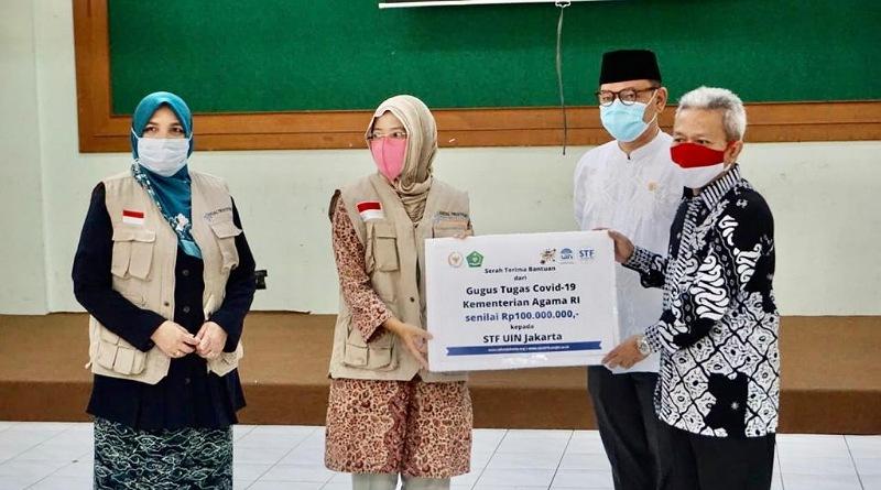 Bantu Mahasiswa Terdampak Covid-19, Ace Hasan Berzakat & Salurkan Bantuan Melalui STF UIN Jakarta