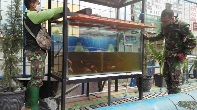 Satgas Citarum Harum Gunakan Akuarium untuk Kontrol Limbah