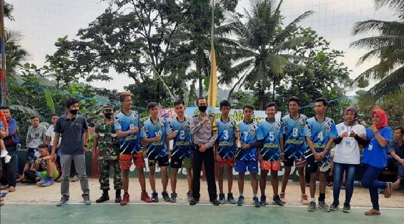 Garseda Duduki Peringkat 2 pada Turnamen Bola Voli Antardesa se-Kabupaten Tasik Utara