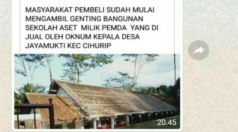 Informasi Bangunan dan Tanah SDN Jayamukti Garut Dijual Pihak Desa Beredar di Medsos