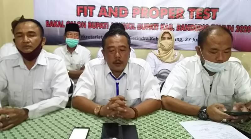 Terima Surat dari DPD, DPC Partai Gerindra Kabupaten Bandung Gagal Gelar Fit and Proper Test Cabup Cawabup