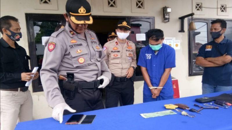 Pelaku Curanmor Dibekuk Saat Beraksi di Cihideung Kota Tasikmalaya