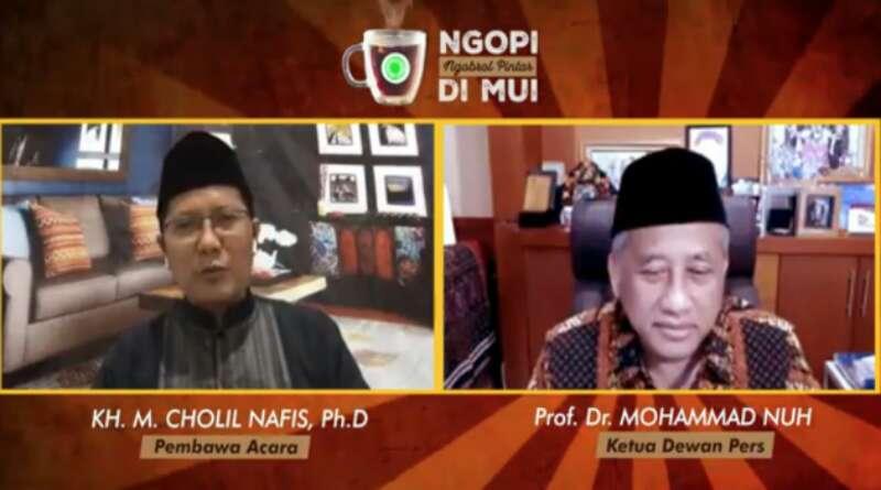 Di 'Ngopi MUI', Ketua Dewan Pers Ingatkan Umat Bahaya Media Abal-Abal