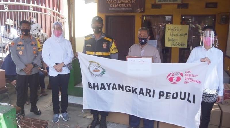 Polresta Bandung dan Bhayangkari Berikan Bantuan kepada Korban Kebakaran Cicalengka