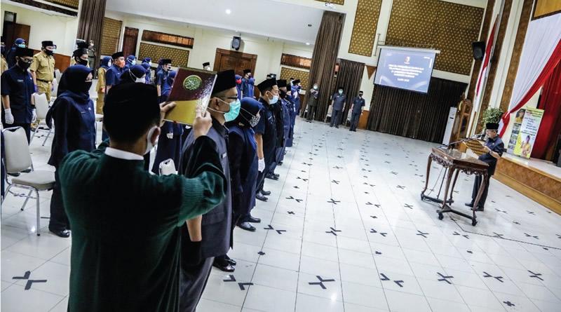 Jelang Akhir Jabatan Bupati, Pemkab Bandung Lantik 46 Pejabat Fungsional