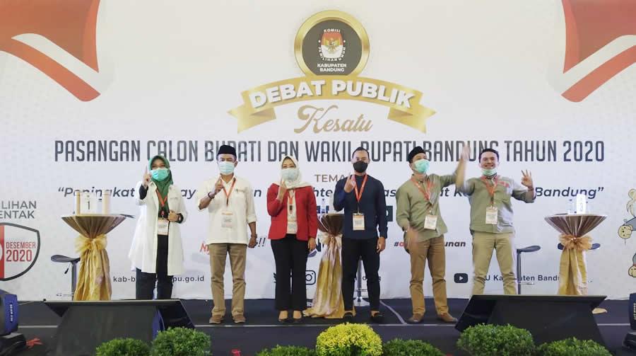 Debat Publik, Tiga Paslon Bupati Bandung Kenalkan Diri dan Motivasi Pencalonannya