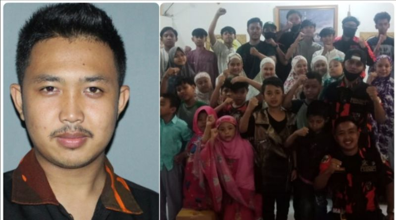 HUT ke-32, Sapma Pemuda Pancasila  Bagikan Sembako dan Masker