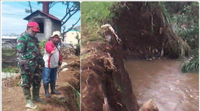 Tanggul Sungai Cikeruh Rancaekek Jebol,  Warga di Dua Desa Terdampak