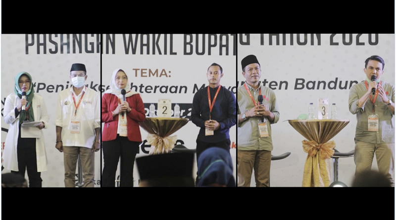 Debat Publik Pilkada Kab. Bandung, Masalah KTP dan Transparansi Jadi Sorotan Paslon No. 2 dan 3