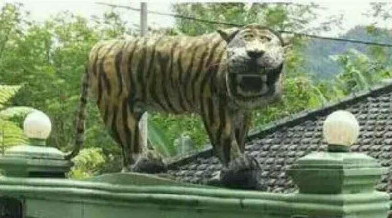 Patung Macan Lucu Cisewu, Begini Sejarah Singkatnya