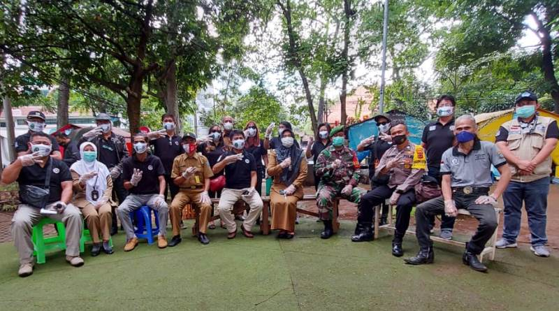KKK DPD Jabar Bersama Forum PKL Juara Sosialisasikan Protokol Kesehatan