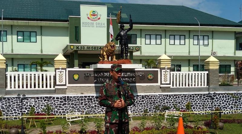 Dandim 0624 Kab. Bandung Gelar Pasukan Implementasikan PPKM Tahap II