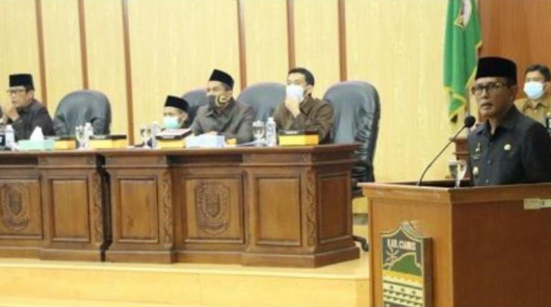 DPRD Ciamis Gelar Rapat Paripurna Perubahan RPJMD Tahun 2019-2024