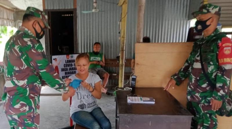 Kendalikan Penyebaran Covid-19, Koramil Karangmalang Rutin Patroli PPKM