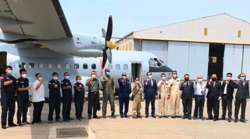 Pesawat CN235-220 Buatan PT Dirgantara Indonesia Tiba di Dakar, Senegal