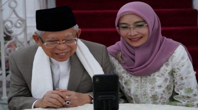 Presiden Jokowi Bersilaturahmi dengan Wapres Ma'ruf secara Daring