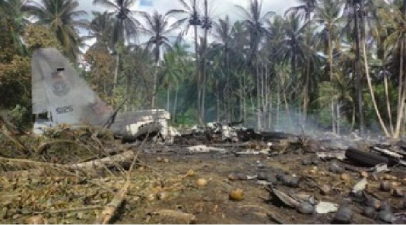 Jasad Hangus, Korban Pesawat Jatuh Filipina Sulit Dikenali