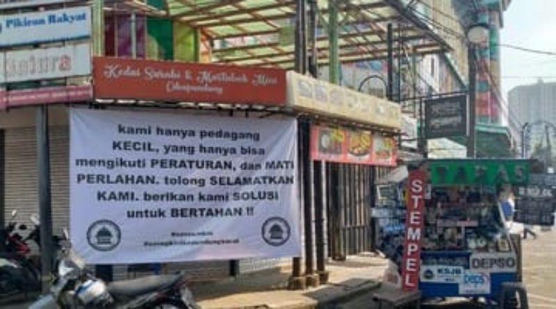 Surati Jokowi Soal PPKM, Pedagang di Bandung Tagih Bansos