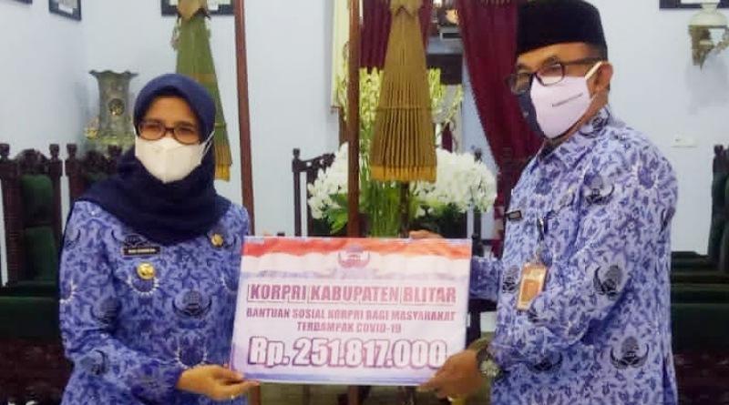 DP Korpri Kab. Blitar Galang Dana Rp. 251.817.000 Juta untuk Satgas Covid-19