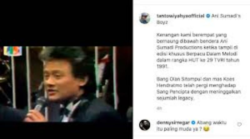 SELEB: Mengenang Koes Hendratmo, Tantowi Yahya Unggah Video Lawas Era 1990-an
