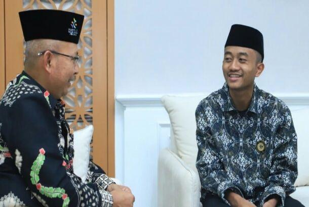 Sehari Menjadi Menag, Afi Terima Rektor IAIN Pontianak
