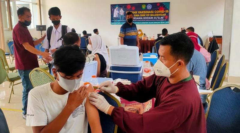 Hampir 100 Persen Siswa KP Baleendah Telah Mengikuti Vaksinasi yang ke-2